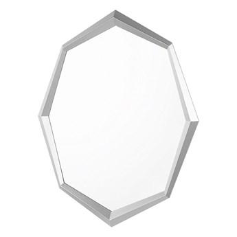 Beliani Lustro ścienne wiszące srebrne 91 x 66 łazienka salon