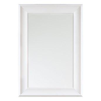 Beliani Lustro ścienne wiszące białe 60 x 90 cm prosta rama styl skandynawski minimalistyczny