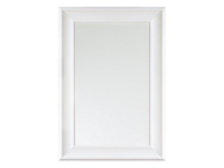 Beliani Lustro ścienne wiszące białe 60 x 90 cm prosta rama styl skandynawski minimalistyczny Lustro z ramą Prostokątne Pomieszczenie Sypialnia Pomieszczenie Garderoba