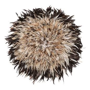 Beliani Dekoracja ścienna jasnobrązowa 60 cm z piór naturalnych