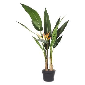 Beliani Sztuczna roślina doniczkowa materiał syntetyczny 115 cm strelicja dekoracja do wnętrz