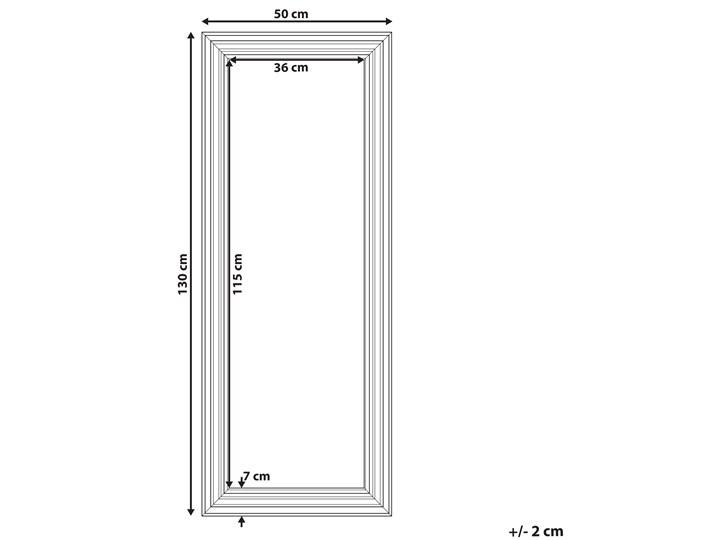Beliani Lustro ścienne wiszące beżowe 50 x 130 cm Lustro z ramą Prostokątne Pomieszczenie Przedpokój