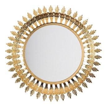 Beliani Lustro ścienne wiszące złote 60 cm salon sypialnia