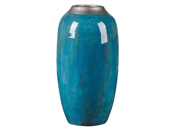 Beliani Wazon dekoracyjny niebieski z terakoty 42 cm nowoczesny stołowy Glina Kategoria Wazony