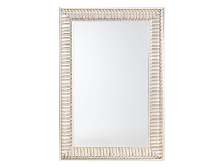 Beliani Lustro wiszące złote 60 x 90 cm syntetyczna rama styl nowoczesny glam Prostokątne Lustro z ramą Ścienne Pomieszczenie Salon
