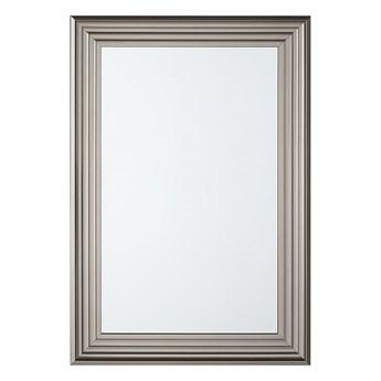 Beliani Lustro ścienne wiszące srebrne 61 x 91 cm łazienka sypialnia toaletka