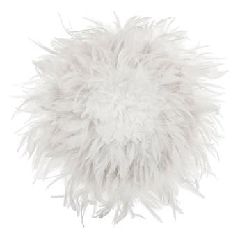 Beliani Dekoracja ścienna biała 40 cm z piór naturalnych