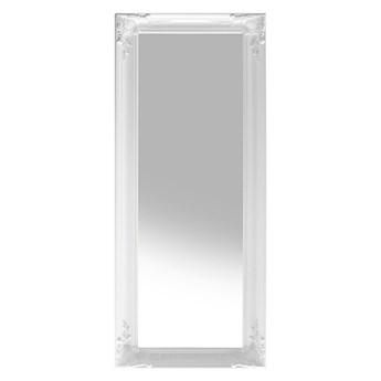Beliani Lustro ścienne wiszące białe 51 x 141 cm dekoracyjna syntetyczna rama salon sypialnia klasyczny styl francuski