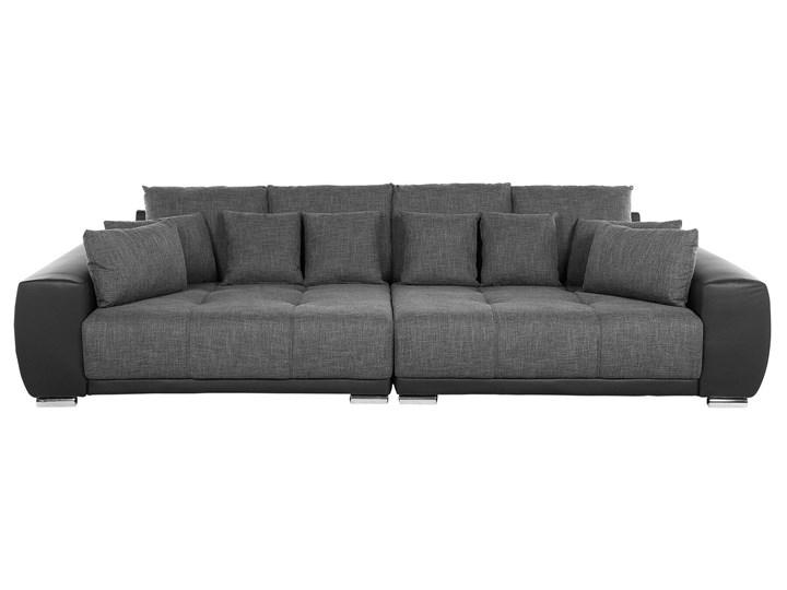 Beliani Sofa szara 4-osobowa dodatkowe poduszki srebrne nogi styl nowoczesny Wielkość Czteroosobowa Stała konstrukcja Boki Z bokami