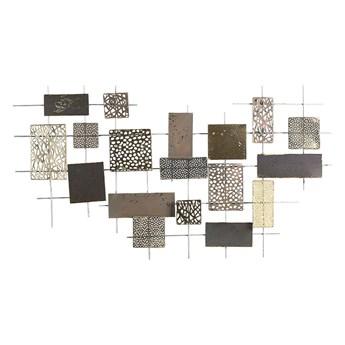 Beliani Dekoracja ścienna złota geometryczny wzór metalowa 90 x 50 cm ozdoba styl nowoczesny