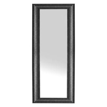Beliani Lustro ścienne wiszące czarne 51 x 141 cm syntetyczna rama styl skandynawski minimalistyczny