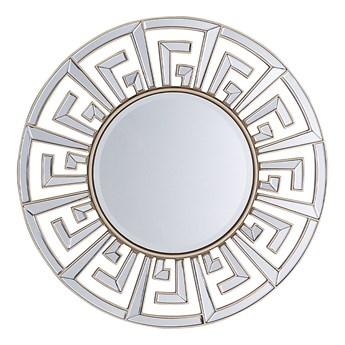 Beliani Lustro ścienne wiszące złote okrągłe 70 cm dekoracyjne