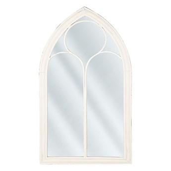 Beliani Lustro ścienne wiszące białe kształt okna nowoczesne łazienka salon
