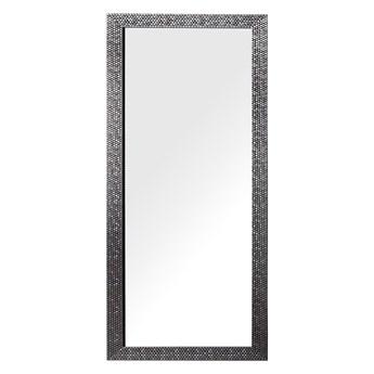 Beliani Lustro ścienne wiszące srebrne 50 x 130 cm dekoracyjne