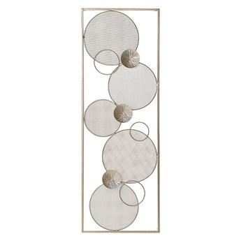 Beliani Dekoracja ścienna złota metalowa 90 x 31 cm ozdoba styl nowoczesny