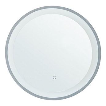 Beliani Lustro łazienkowe wiszące okrągłe 58 cm światło LED nieparujące dotykowy przycisk dekoracyjne