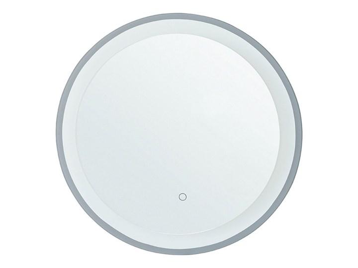 Beliani Lustro łazienkowe wiszące okrągłe 58 cm światło LED nieparujące dotykowy przycisk dekoracyjne Lustro z ramą Kategoria Lustra Styl Nowoczesny