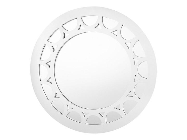 Beliani Lustro ścienne srebrna rama ø 80 cm okrągłe styl nowczesny glam Lustro z ramą Kolor Szary Pomieszczenie Salon