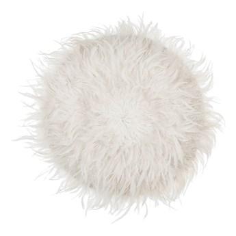 Beliani Dekoracja ścienna biała 60 cm z piór naturalnych