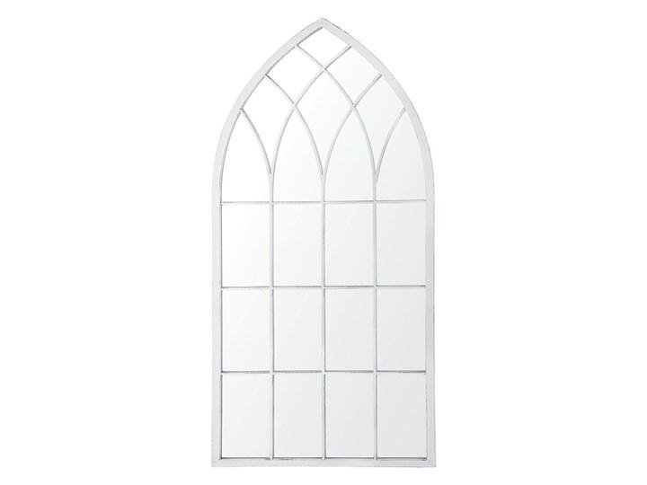 Beliani Lustro ścienne wiszące szare 50 x 115 cm ozdobne kształt okna Lustro z ramą Nieregularne Kolor Szary Styl Glamour