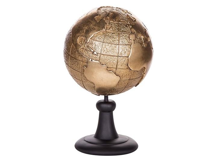 Beliani Figurka dekoracyjna globus złota żywica syntetyczna 33 x 18 cm Metal Kolor Złoty Globusy Kolor Brązowy