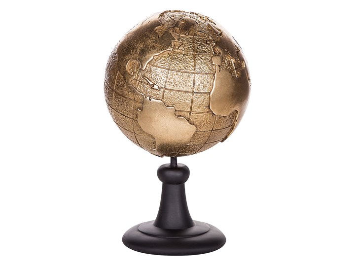 Beliani Figurka dekoracyjna globus złota żywica syntetyczna 33 x 18 cm