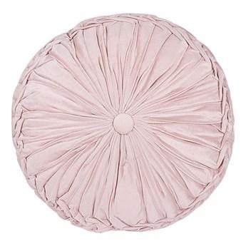 Beliani Poduszka dekoracyjna różowa plisowana okrągła 40 cm z wypełnieniem ozdobna akcesorium salon sypialnia