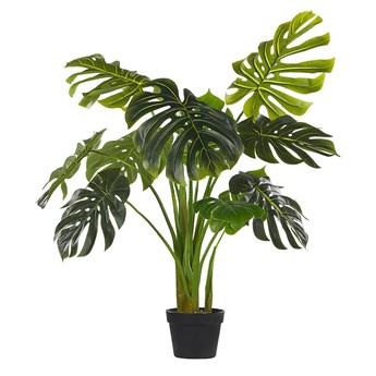 Beliani Sztuczna roślina doniczkowa materiał syntetyczny 113 cm monstera dekoracja do wnętrz