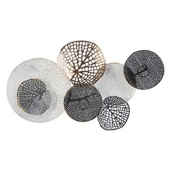 Beliani Dekoracja ścienna biało-czarna metalowa ażurowe koła ozdoba wisząca styl nowoczesny