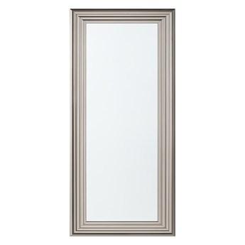 Beliani Lustro ścienne wiszące srebrne 50 x 130 cm łazienka sypialnia toaletka