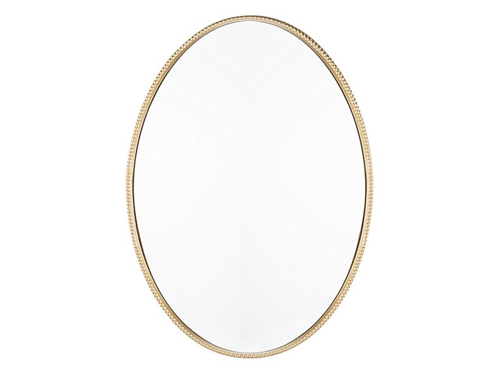 Beliani Lustro ścienne wiszące złote 83 x 57 cm owalne dekoracyjne do salonu sypialni łazienki minimalistyczne Pomieszczenie Sypialnia Lustro z ramą Pomieszczenie Łazienka