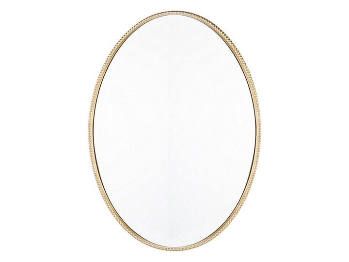 Beliani Lustro ścienne wiszące złote 83 x 57 cm owalne dekoracyjne do salonu sypialni łazienki minim ...