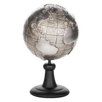 Beliani Figurka dekoracyjna globus srebrna żywica syntetyczna 33 x 18 cm