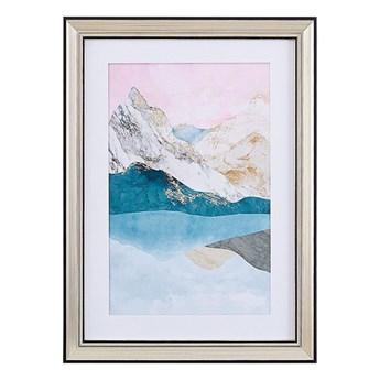 Beliani Obraz w ramie wielkolorowy wydruk na papierze 30 x 40 cm abstrakcja dekoracja ścienna