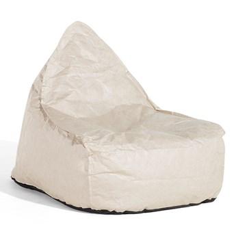 Beliani Fotel keiko beżowy worek siedzisko