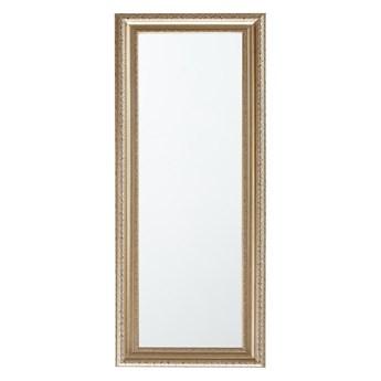 Beliani Lustro ścienne wiszące złote 51 x 141 cm ozdobne salon sypialnia