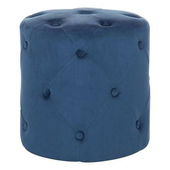 Beliani Puf niebieski welurowy 40 x 40 cm pikowany glamour