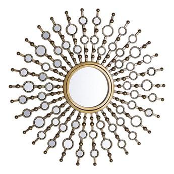 Beliani Lustro ścienne wiszące złote okrągłe słońce dekoracyjne