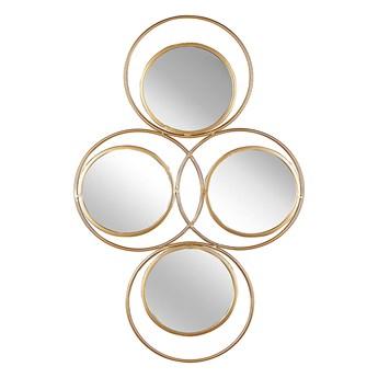 Beliani Lustro ścienne wiszące złote 50 x 80 cm 4 częściowe ozdoba ścienna wisząca nowoczesne glamour