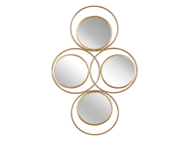 Beliani Lustro ścienne wiszące złote 50 x 80 cm 4 częściowe ozdoba ścienna wisząca nowoczesne glamour Nieregularne Lustro z ramą Kategoria Lustra