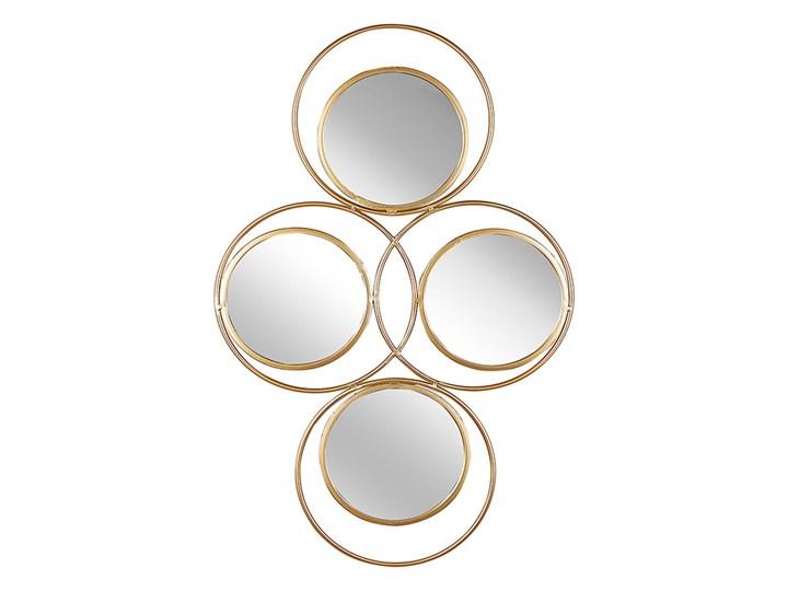 Beliani Lustro ścienne wiszące złote 50 x 80 cm 4 częściowe ozdoba ścienna wisząca nowoczesne glamou ...