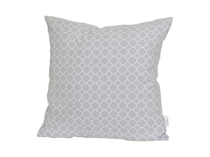 LITTLE DREAMS Poszewka dekoracyjna - Maroko Gray - marokańska koniczyna 40x40 cm Kolor Szary 50x50 cm Bawełna Kwadratowe 45x45 cm Wzór Marokański