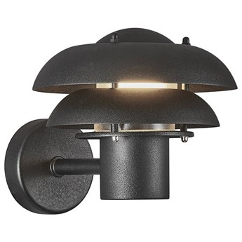 Kinkiet ogrodowy Kurnos Ø20x18 cm czarny