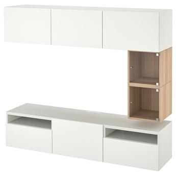 IKEA BESTÅ / EKET Szafka pod TV, Biały/Lappviken biały