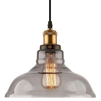 Lampa wisząca New York Loft No.3 ∅28x150 cm przydymiona-złota