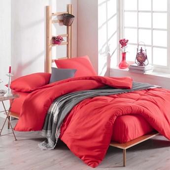 SELSEY Komplet pościeli Avery 200x220 cm z dwiema poszewkami na poduszki 50x70 cm i prześcieradłem czerwony
