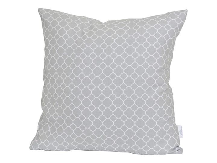 LITTLE DREAMS Poszewka dekoracyjna - Maroko Gray - marokańska koniczyna Kwadratowe Bawełna 50x50 cm 40x40 cm 45x45 cm Kategoria Poduszki i poszewki dekoracyjne
