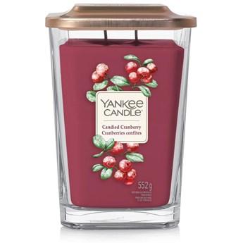 Świeca zapachowa duża kwadratowa z 2 knotami Yankee Candle Candied Cranberry