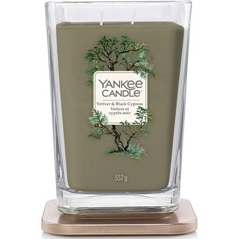 Świeca zapachowa duża kwadratowa z 2 knotami Yankee Candle Vetiver  Black Cypress
