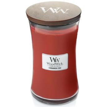 Świeca zapachowa duża Woodwick Cinnamon Chai
